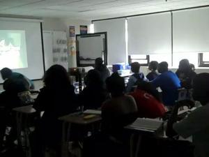 Watching video in class