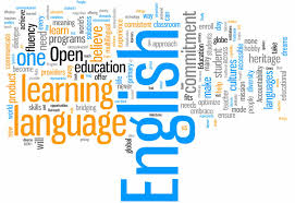 English learning word cloud